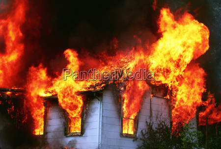flames emitting out of a burning