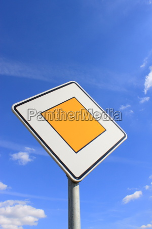 sign of the road in germany