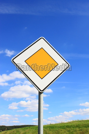 road sign in germany