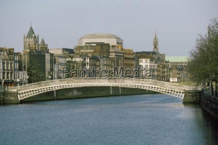 bridge over a river half penny