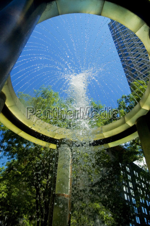 low angle view of a fountain