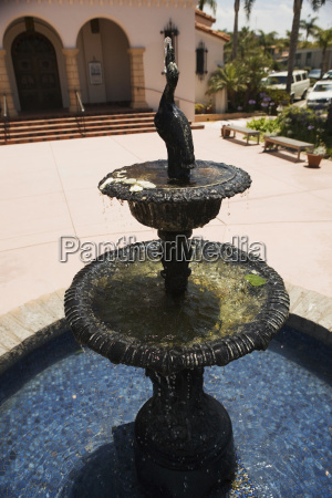 high angle view of a fountain