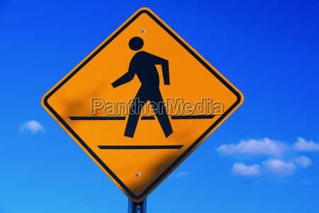 low angle view of a pedestrian