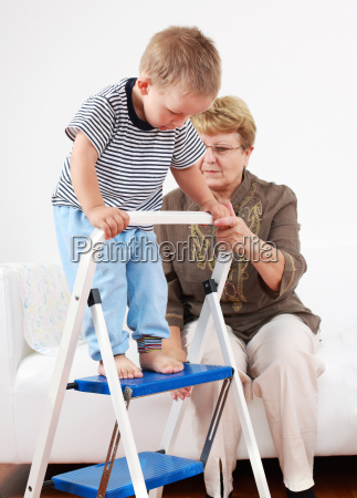 playing with granny