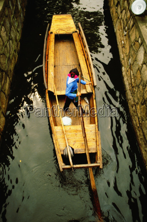 high angle view of a rowboat