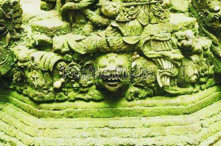 close up of sculptures bali indonesia