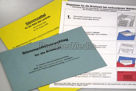 postal ballot documents