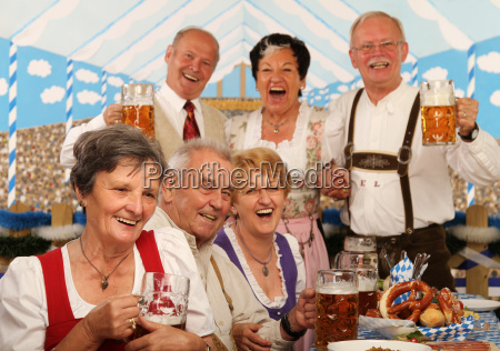 pensioners in the beer tent