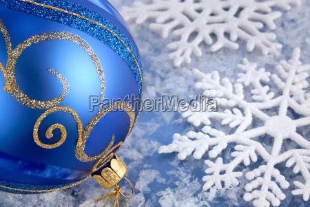 winter joy in blue