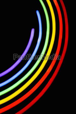 close up of a neon illuminating