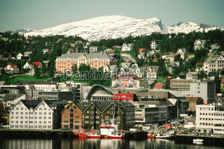 city at the waterfront tromso norway
