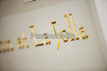 close up of a gilded la