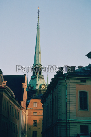 low angle view of the spire