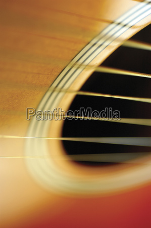 close up of guitar and its
