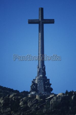 low angle view of a cross