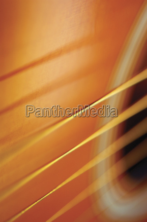 extreme close up of guitar strings