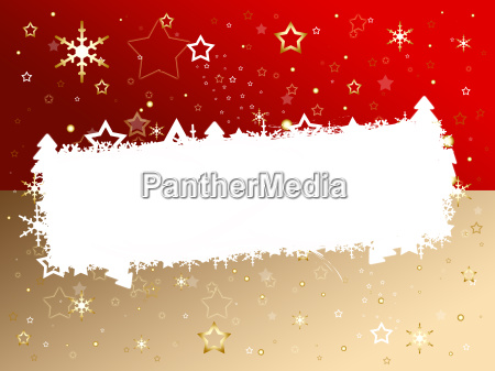 christmas card red brown