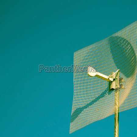 antenna against blue background