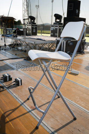 chair on stage