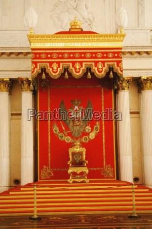 throne in a throne hall st