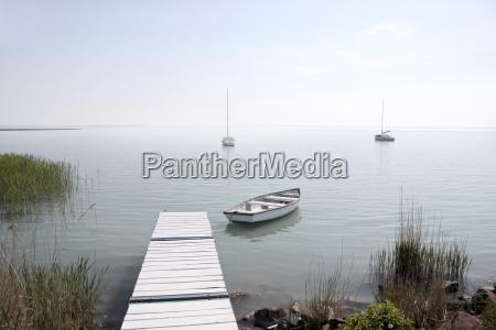 pier at lake balaton