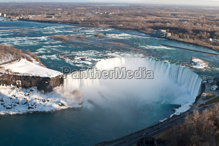 horseshoe falls niagara from above in