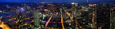 skyline and panorama of frankfurt