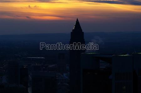lights sunset evening frankfort sight view