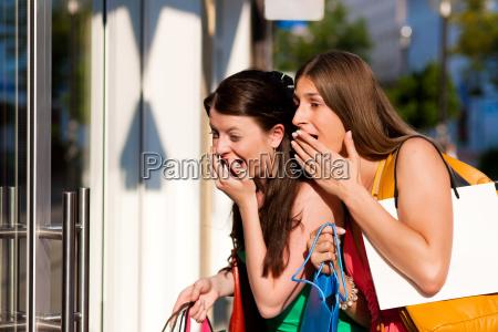women shopping with bags