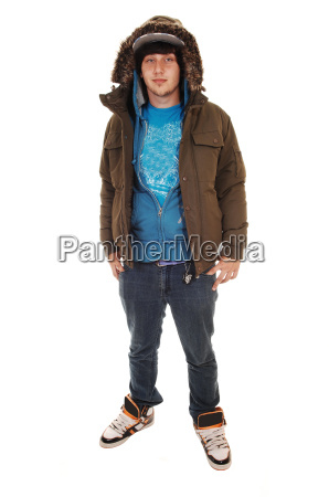 boy with winter jacket