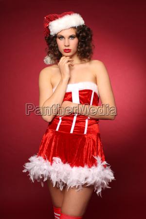 sexy christmas woman