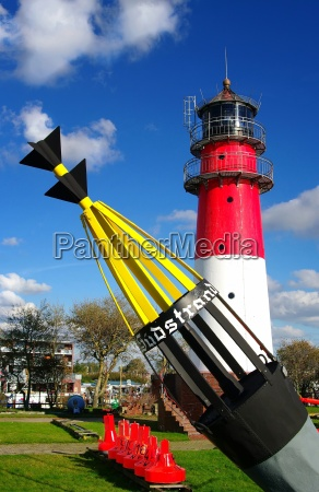 lighthouse buesum north sea buoy
