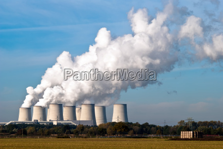 power station cooling towers across v3