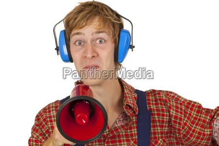 craftsman tradesman handicraftsman apprentice trainee megaphone