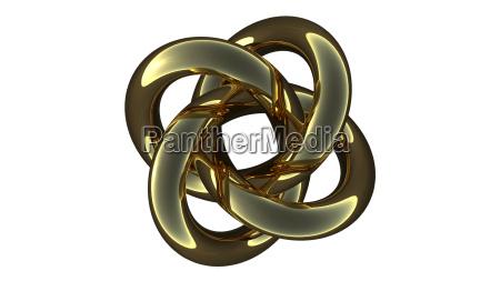 computer rendering of a metallic torus