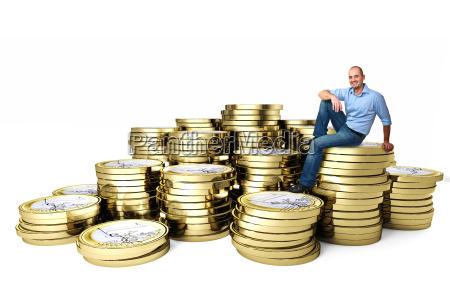 man on 3d euro