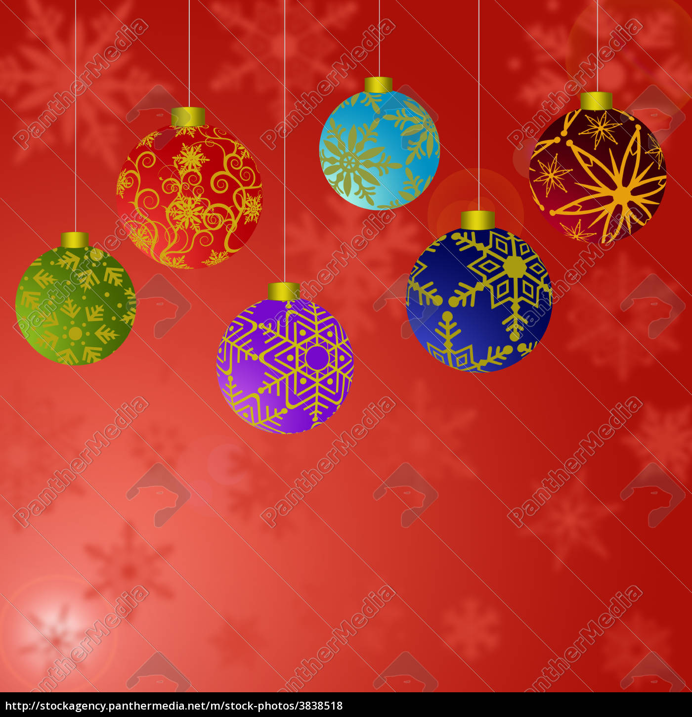 Christmas Ornaments Background.Royalty Free Image 3838518 Hanging Christmas Ornaments With Snowflakes Background