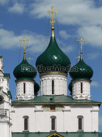 steeples in yaroslavl
