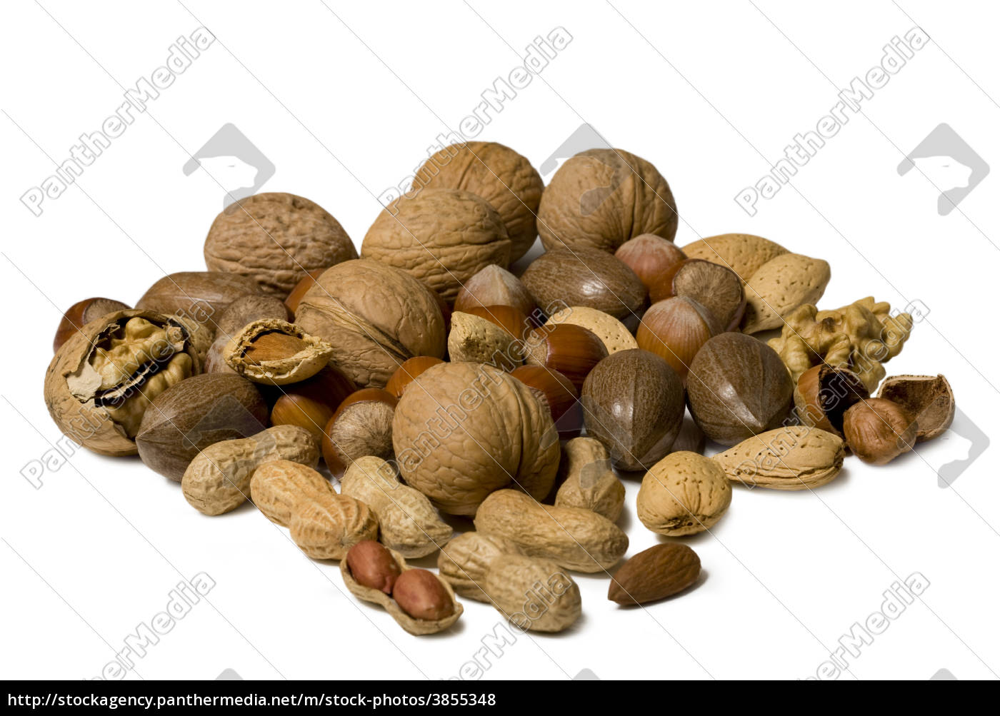 nuts, isolated, on, white, background - 3855348