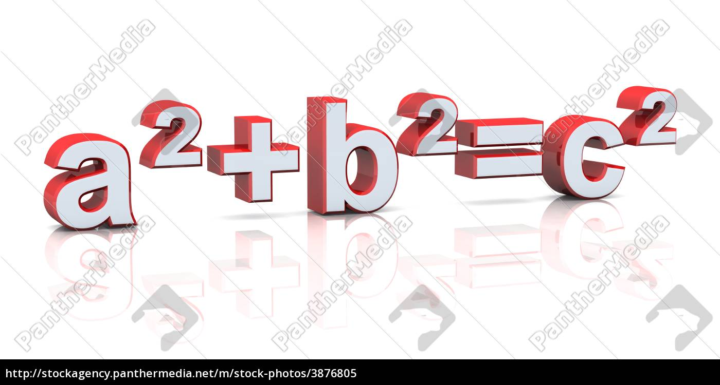 Stock Photo 3876805 - 3d pythagoras knew it red silver