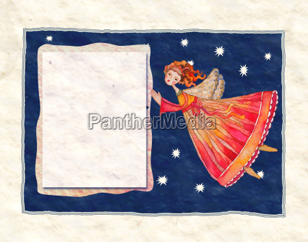 greeting card with illustration with chr