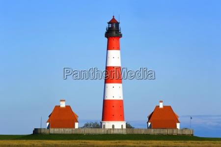lighthouse westerhever north sea watt