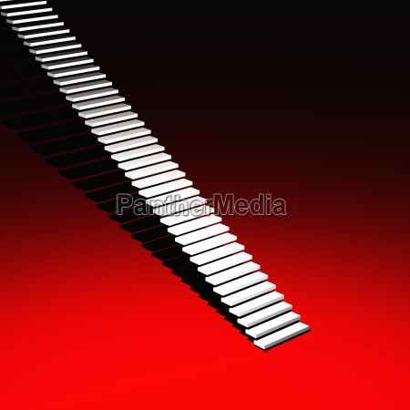 white modern stairs red 13