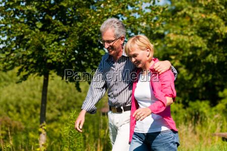 senior couple on walk