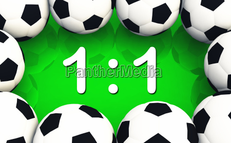 soccer result 1 to 1