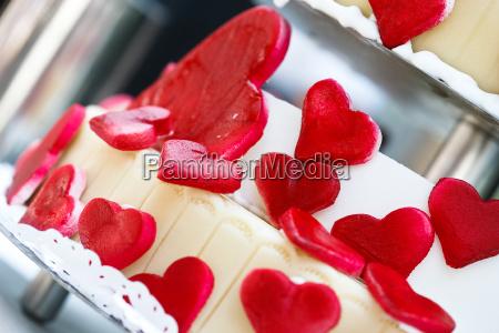 heart cake shallow depth of field