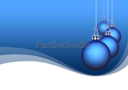 christmas balls with waves blue 02