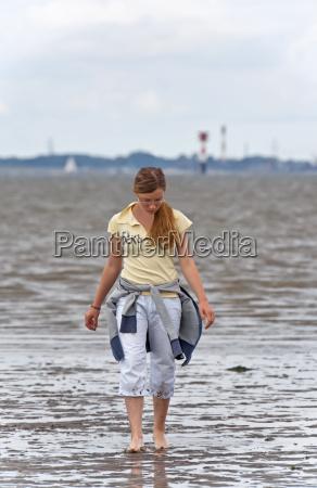 girl in the wadden sea