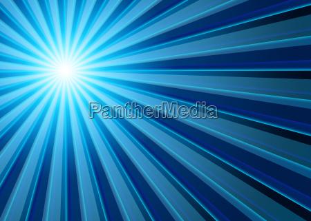 background rays of light blue