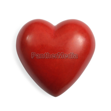 red stone heart isolated